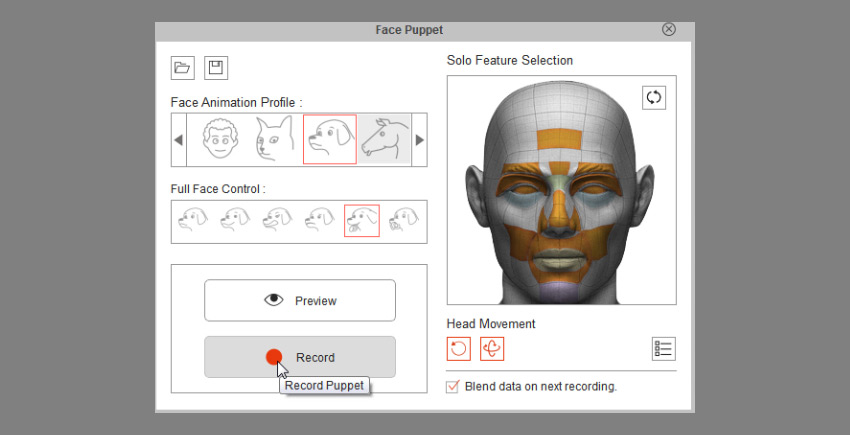 how to record facial animation cta3