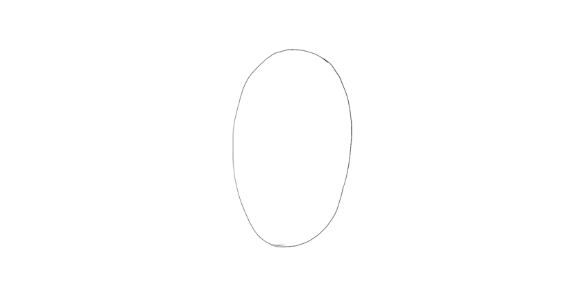 draw oval for body