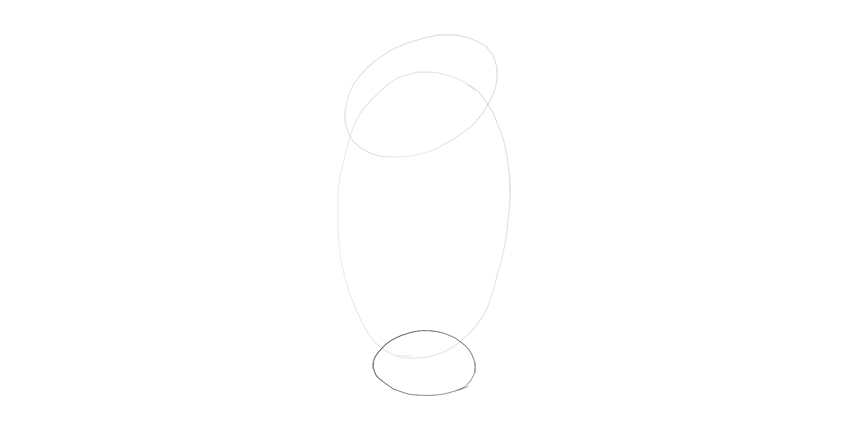 draw oval for udnertail