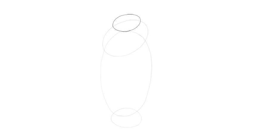 draw oval for neck