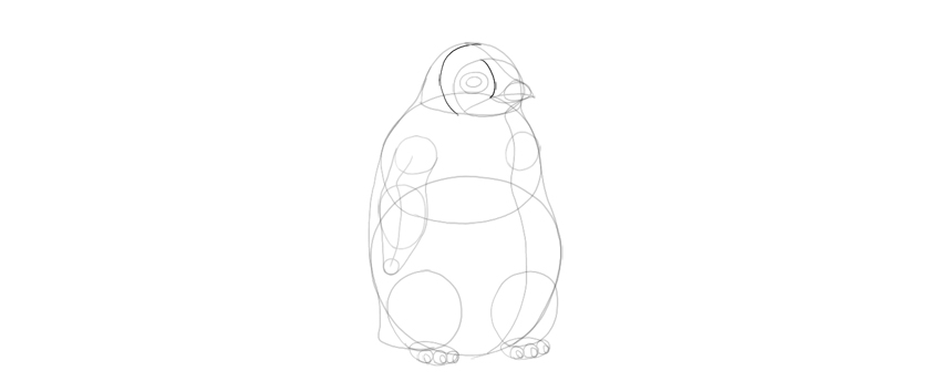 draw baby penguin pattern