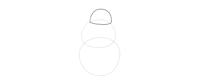 draw half oval of the head