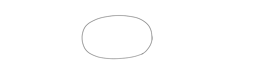 draw oval for chest