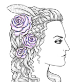 How to Create a Medieval Style Female Profile With Ink and Pencils