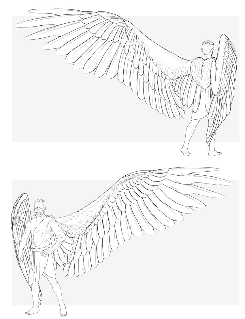 How to draw an angel step by step