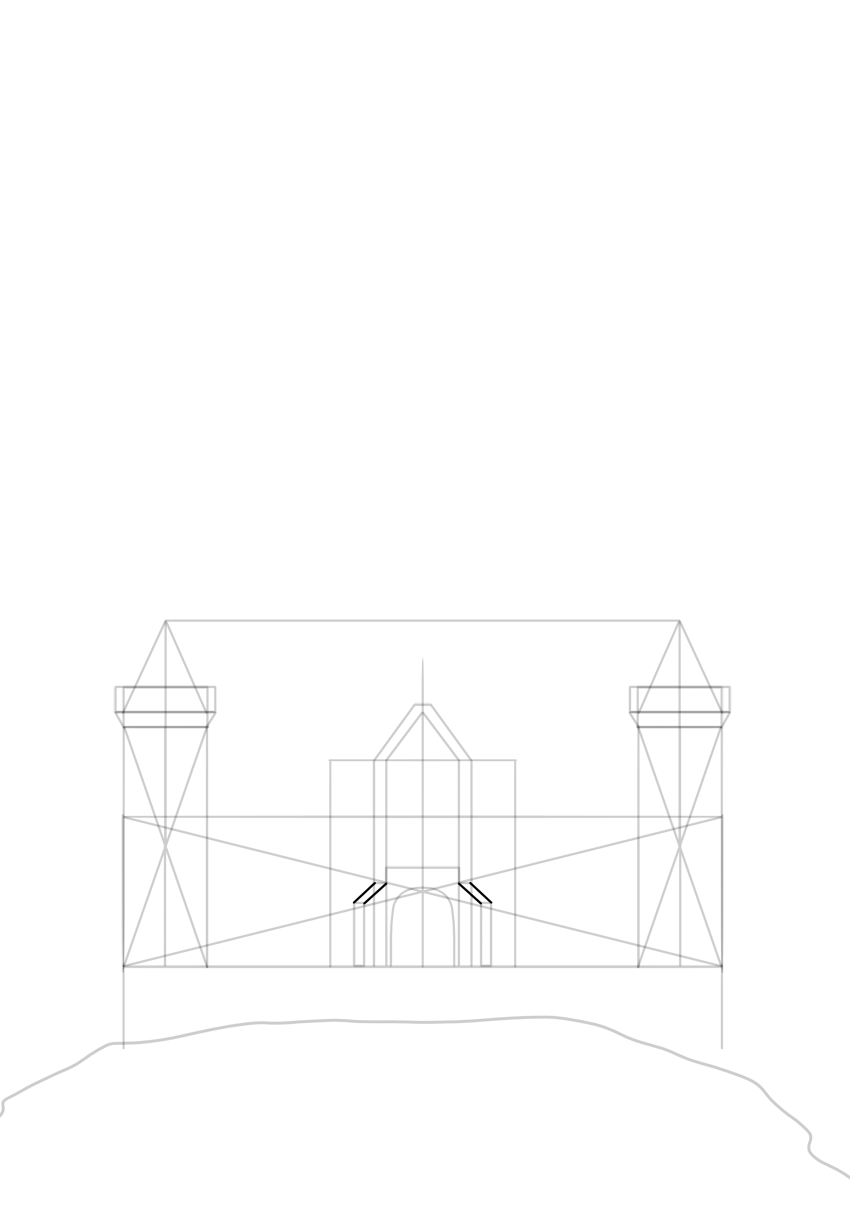 gate side walls perspective