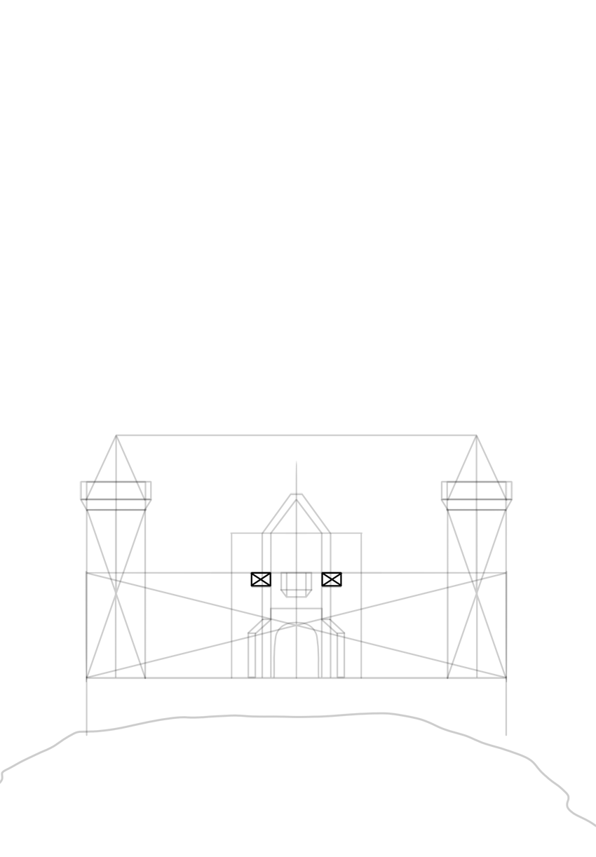 mini balconies on sides