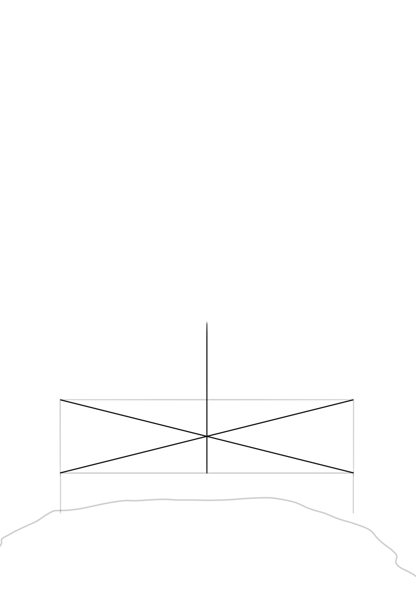 how to find middle line of a rectangle