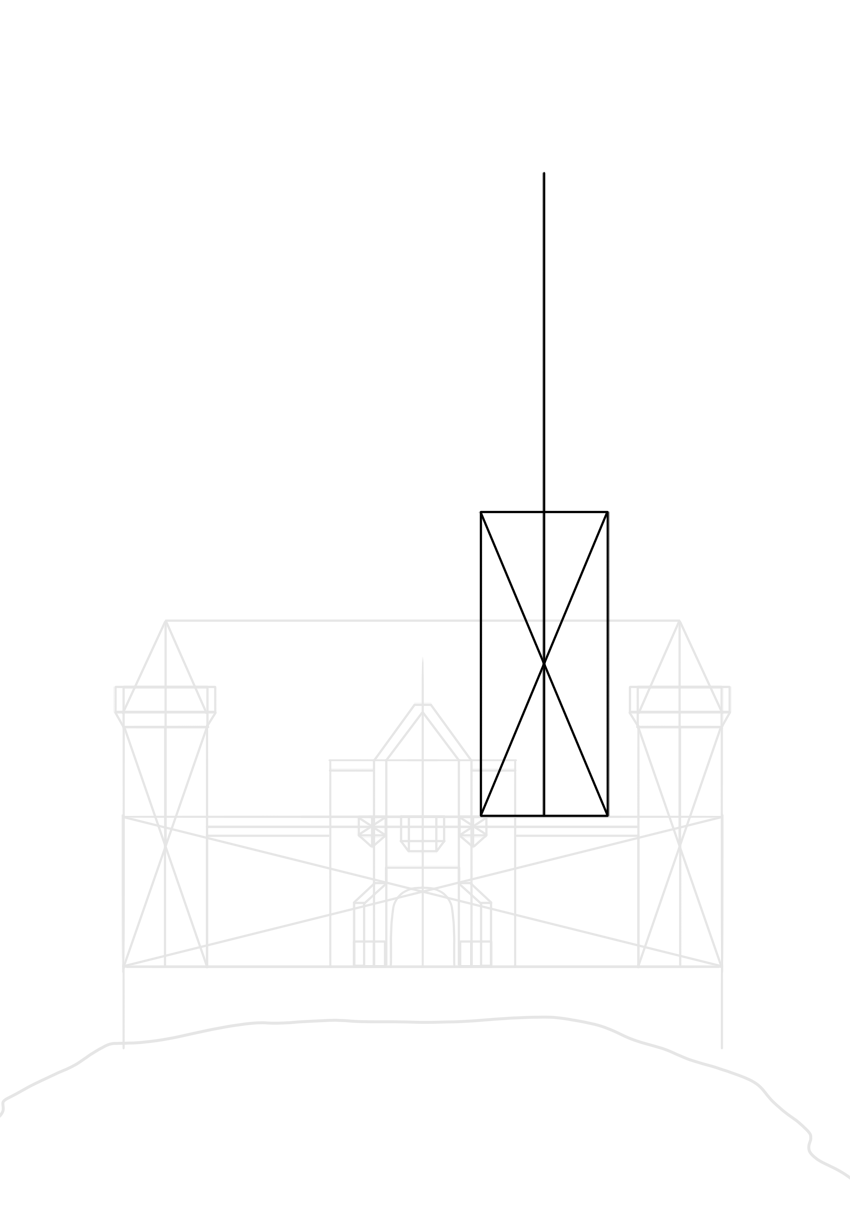base of a thick tower