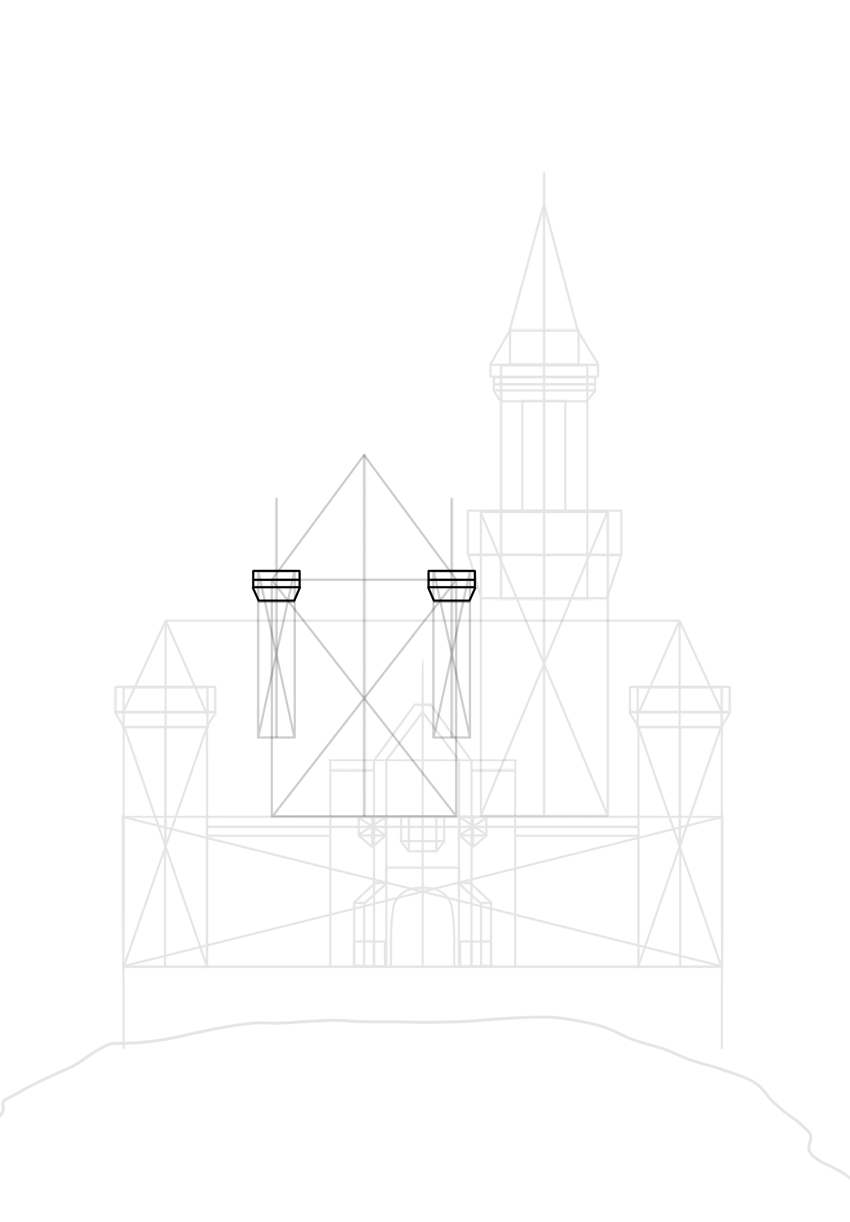 draw top of each tower