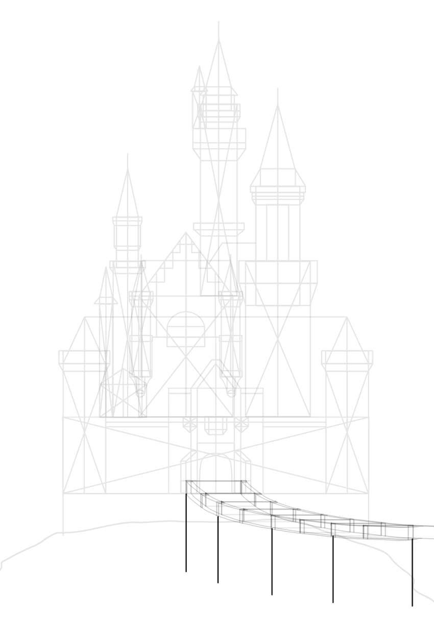 draw base of stairs