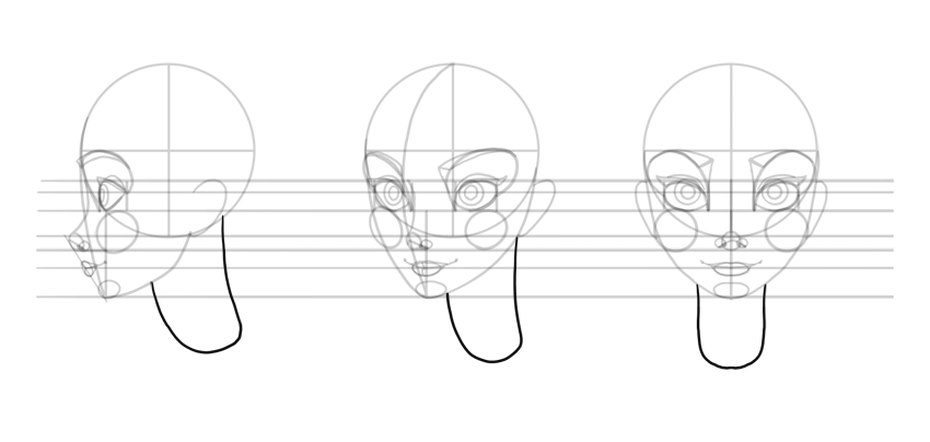 how to draw neck