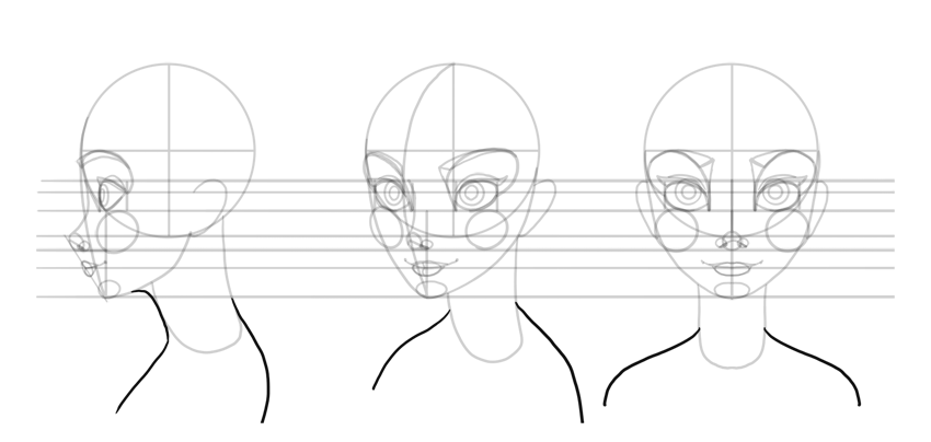 how to draw shoulders