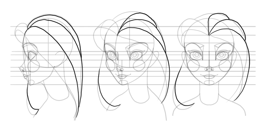 draw outline of strands