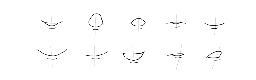 how to start drawing lips