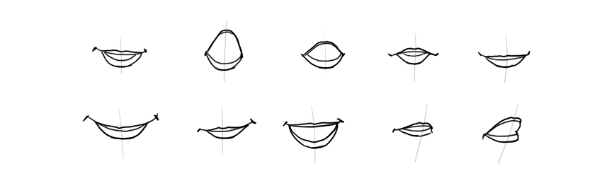 how to outline lips