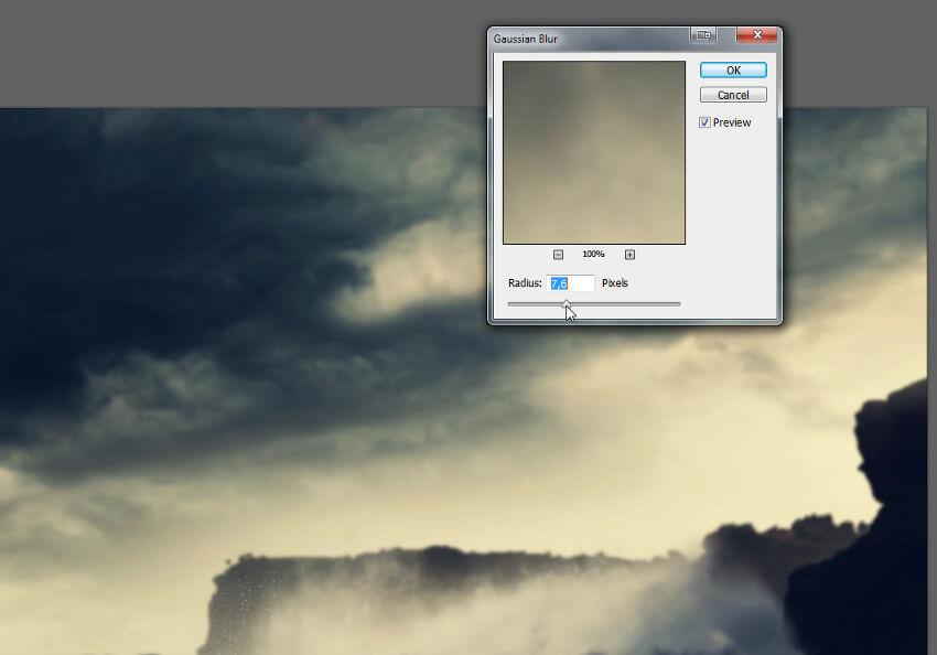 add blur to background