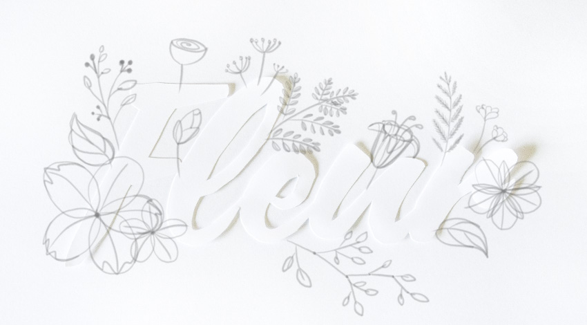 draw a twirl inside flower