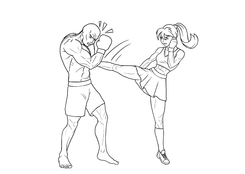 how to draw anime fight
