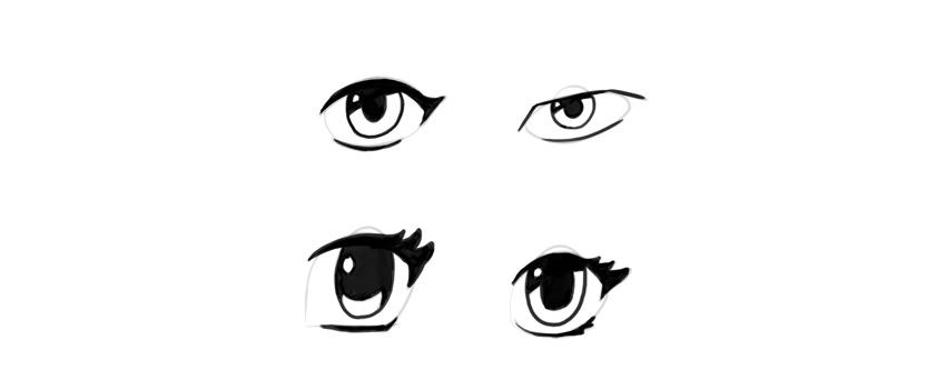 manga eyes inking