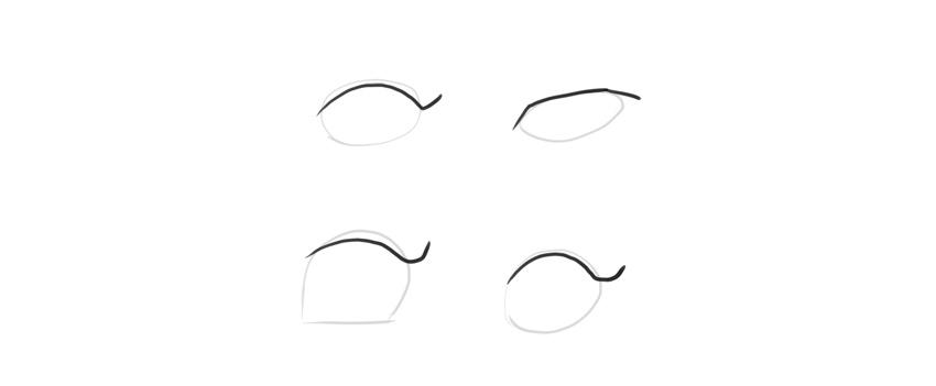 manga eyes upper eyelid