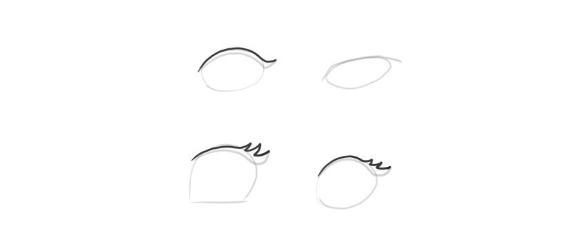 manga eyes upper eyelahes