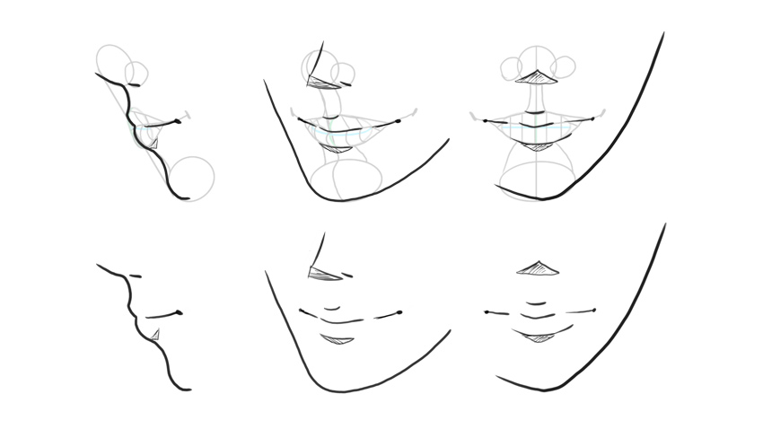 how to draw anime face expressions