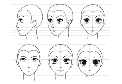 How to draw anime head preview