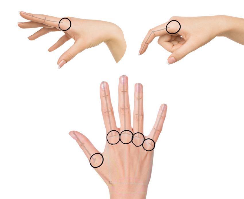 base of the finger