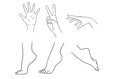 How to draw anime feet prev