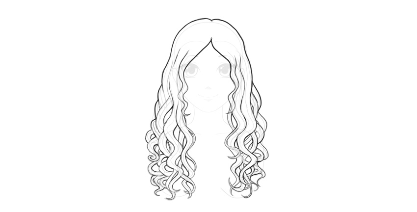 How to draw hair for beginners easy girl with long straight
