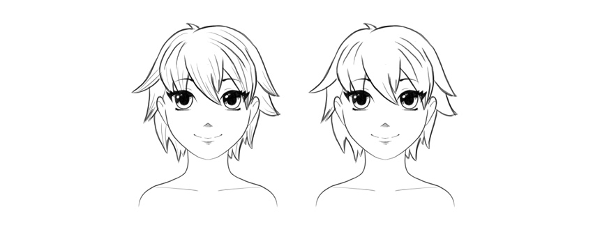 Pleasant How To Draw Anime Hair Natural Hairstyles Runnerswayorg