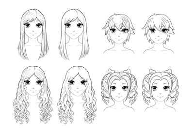 How to draw anime hair preview