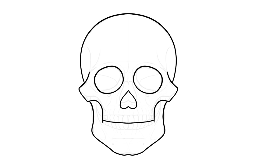 simple outline of sugar skull