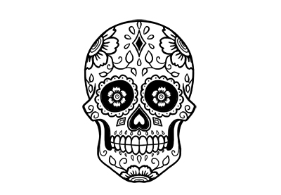 How to draw a sugar skull preview