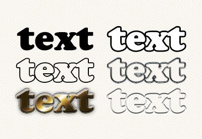 How to outline  text in photoshop preview