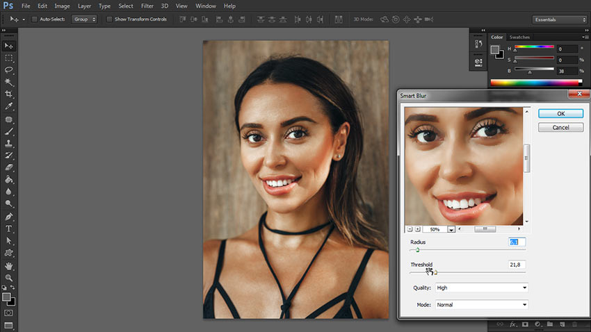 how to blur image in photoshop