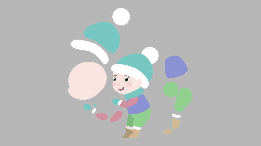 draw simple vector kid