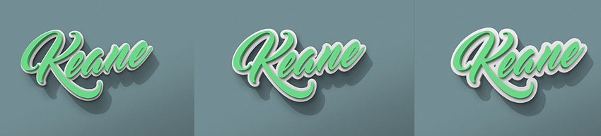 Rubber 3D Text Effects