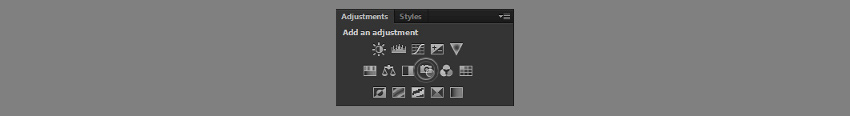 photo filter adjustment layer