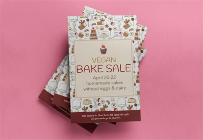 How to create bake sale flyer preview