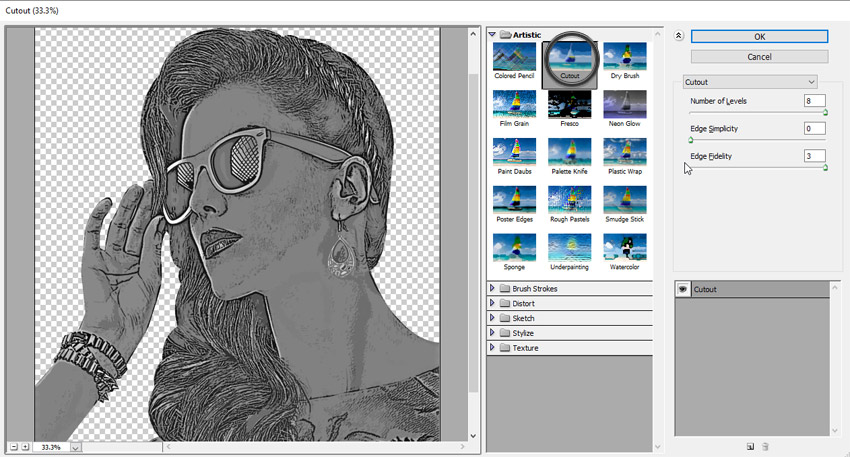 cutout filter