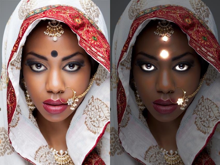 glowing skin photoshop