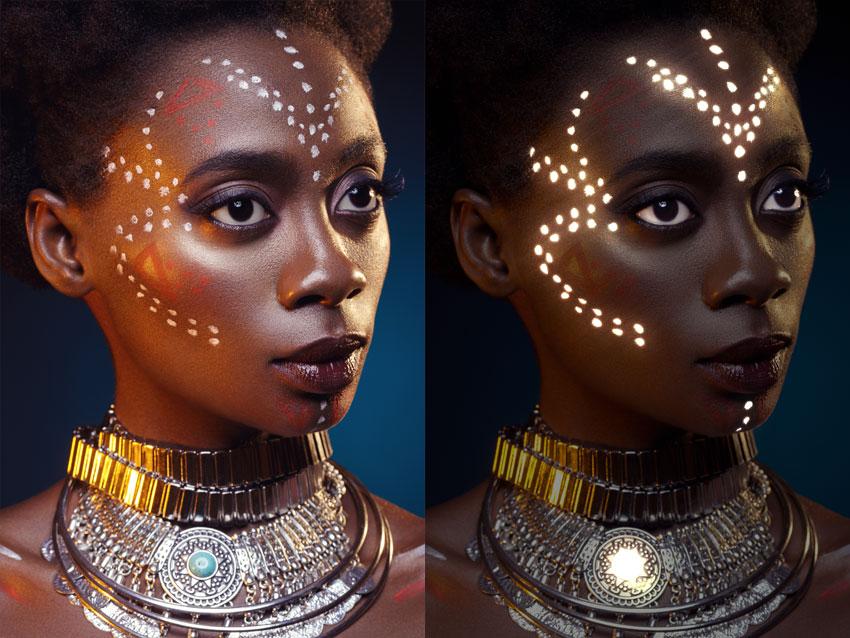 glow photoshop action portrait effect