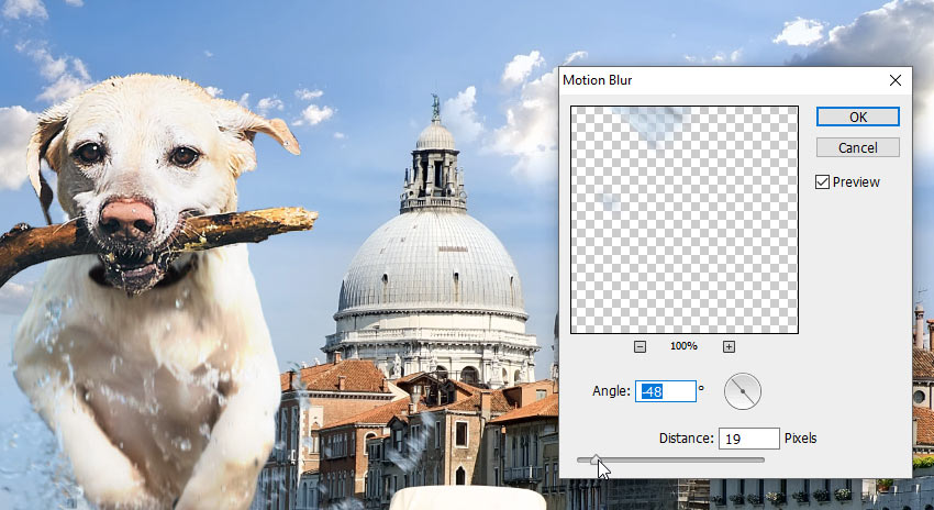 add blur selectively