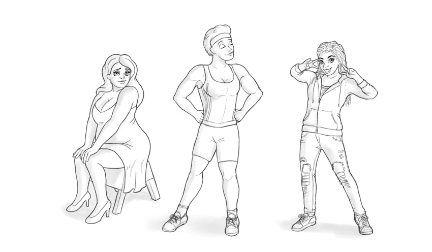 how to draw cartoon woman