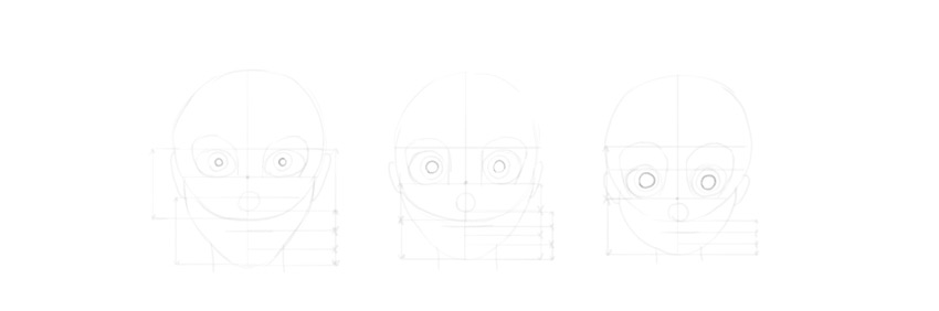 draw pupil