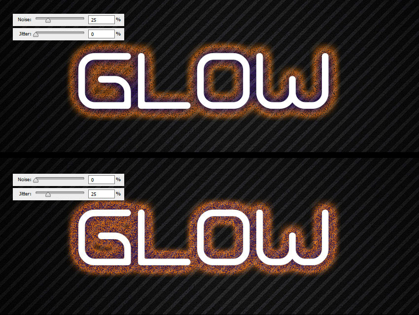 outer glow jitter difference
