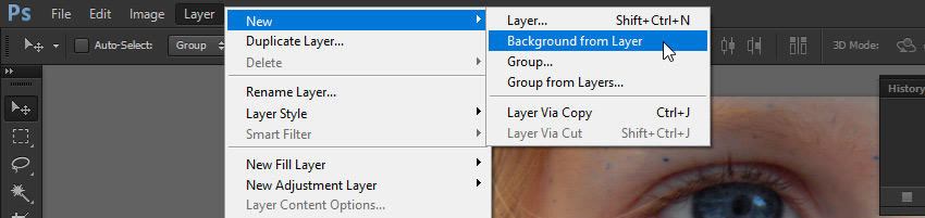 background from layer