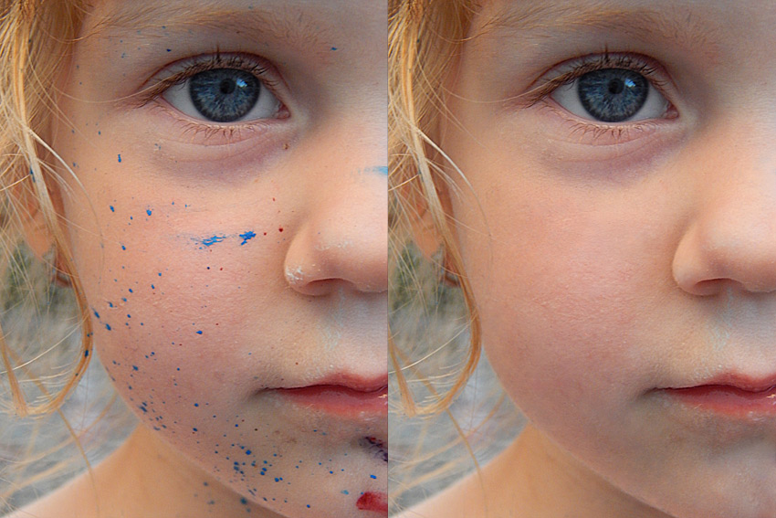 how to retouch skin